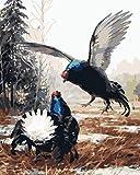 Pintura por Numeros, Pintar con Numeros Kits-pelea de gallos Cuadros para Pintar por Numeros Decoraciones para el Hogar - Sin Marco 40x50CM