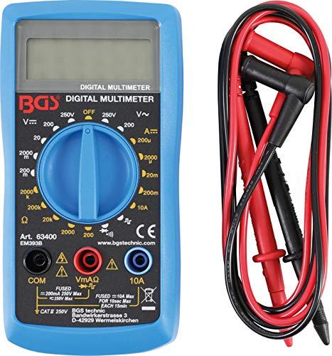 BGS 63400 | Digital-Multimeter | mit LCD-Anzeige | Strommessgerät | Volt-, Ohm-, Amper-Meter