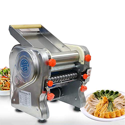 ANGELA Professional Commercial Electric Pasta Pressing Machine, Noodles Dumplings Pasta Rolling Maker, Stainless Steel Material, for Home, Restaurant Use