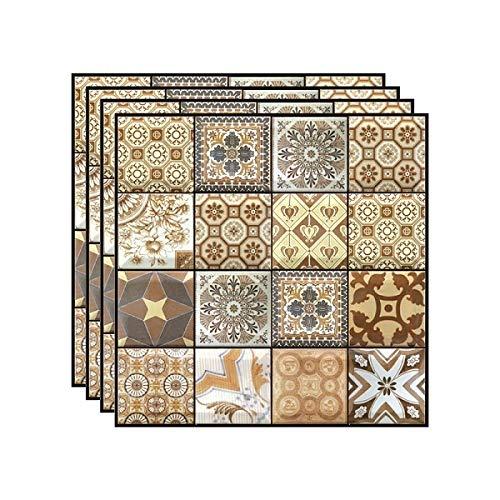 SMXGF Brick 3D Stone Zelfklevende Behang for Living Room behang Badkamer Keuken Backsplash Tegels Muur Papers Decor van het Huis (Color : 4PCS)