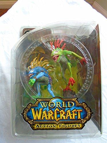 World of Warcraft Série 4 : Figurine d'action Murloc Fish-Eye et Gibbergill – Les Couleurs Peuvent Varier