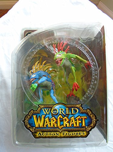 World of Warcraft Série 4 : Figurine d'action Murloc Fish-Eye et Gibbergill – Les Couleurs Peuvent Varier