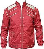 Dizller MJ Beat It Michael Jackson Red Cordura Jacket (L (44' - 45')), Large