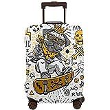 Delerain - Funda para maleta de viaje con diseño de calavera de caricatura de...