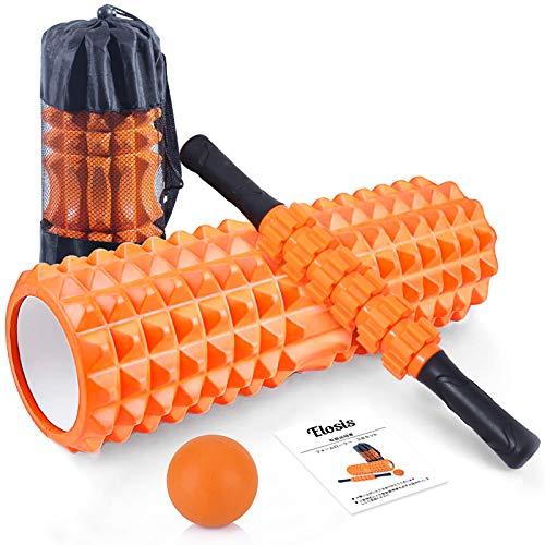 フォームローラー 筋膜リリース ヨガポール マッサージボール マッサージローラースティック 3点セット フィットネス トレーニング器具 ストレス解消 筋肉痛改善 日本語説明書 収納袋付き