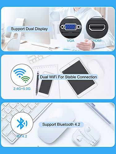 Mini-PC, Intel Atom Z8350 Mini-Desktop-Computer Windows 10 Pro mit 4 GB DDR3 + 64 GB eMMC, Dualband-WLAN 2,4 G / 5,8 G, Unterstützung von 1000 Mbit/s LAN, HDMI + VGA-Ausgang, BT4,2, 4 K HD