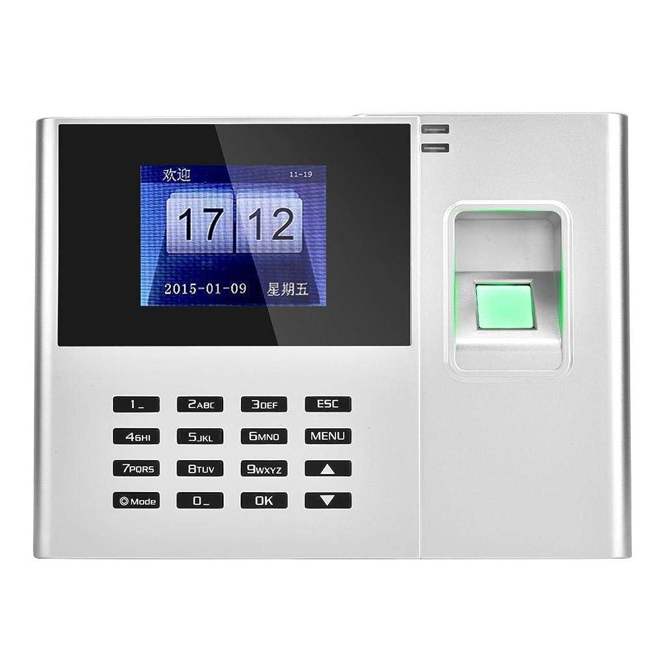 震えるパレード哲学者指紋出席機械 ASHATA 2.8インチHD LCDカラーディスプレイ指紋従業員チェックインレコーダー TCP IPバイオメトリック指紋出席 時間出席クロックレコーダー(シルバー USプラグ)