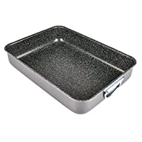 alluflon tradizione italia lasagnera, alluminio, nero, 40x28 cm