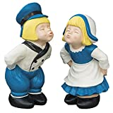 BRECK'S - Kissing Dutch Couple Statues - Set of 2 - 1 Boy and 1 Girl