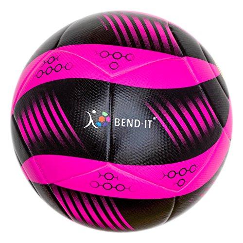 Bend-It Millenti Flicker Match Soccer Balls (Pink, Black, 5)