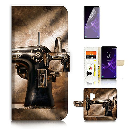 ( For Samsung Galaxy S9 ) Flip Wallet Case Cover & Screen Protector Bundle - A20136 Sewing Machine