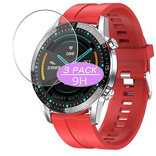 Vaxson 3 Stück 9H Panzerglasfolie, kompatibel mit smartwatch Smart Watch G5, Panzerglas Schutzfolie Displayschutzfolie Bildschirmschutz