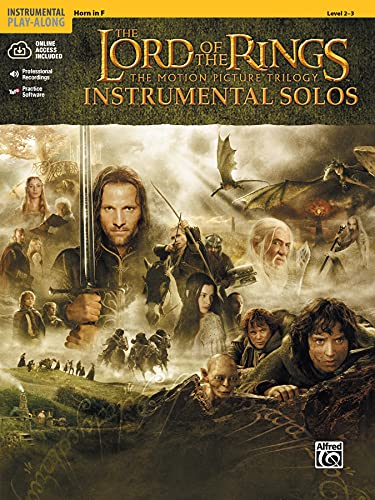 The Lord of the Rings Instrumental Solos: Horn in F, Book & CD: French Horn: The Motion Picture Trilogy (incl. CD)