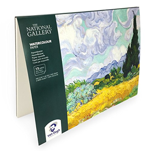 Royal Talens – Van Gogh – The National Gallery – Limited Edition - Watercolour Paper Blocks – 24 x 32cm – 12 Sheets – Landscape
