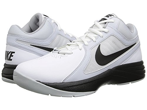 Nike Women's Overplay VIII Basketball Shoe White/Pure Platinum/Black Size 7 M US