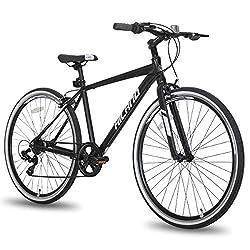 powerful Hiland Hybrid Bike Urban Urban Commuter Bike Men's Comfort Bike 700C Wheel 7…