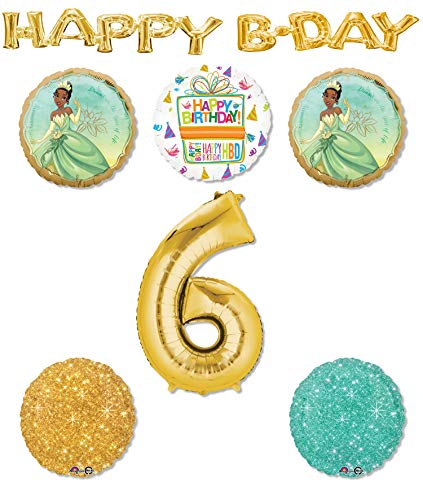 Princess Tiana Party Supplies 6th Birthday Balloon Bouquet Decorations