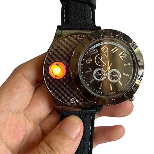 STRIR Mechero Eléctrico en Forma de Reloj de Cuarzo, Encendedor USB Eléctrico...