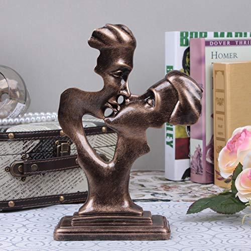 Vintage for Bedroom Boys Men Shabby Chic Girls Figurine Ornaments,European Wedding Coppia Creativa Figura Astratta Scultura Decorazione,Regalo Creativo