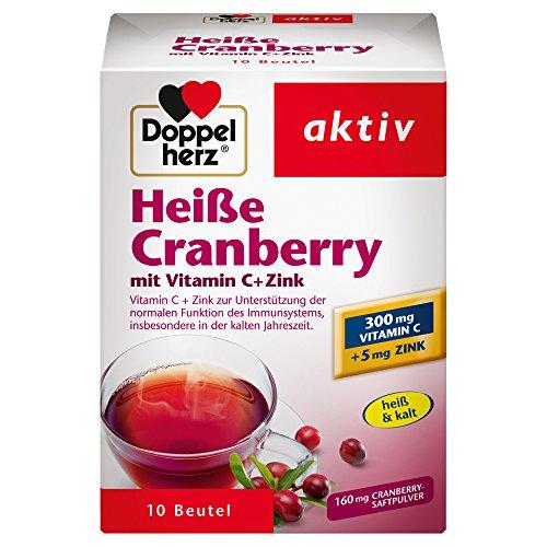 Doppelherz Heiße Cranberry – Vitamin C und Zink, 10 Beutel, 150g