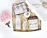 Luxury Spa Day Gift for Women- Relaxing Lavender Essential Oil Spa Day Self Care Kit - The Little Flower Soap Co