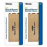 BAZIC Felt Chalkboard Eraser, Wood Blackboard Eraser Cleaner Dustless, Teacher Kids Office Classroom Store Home, 2-Pack