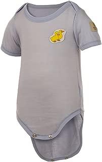 Janus 100% Merino Wool Baby Bodysuit Short Sleeve Machine Washable Made in Norway