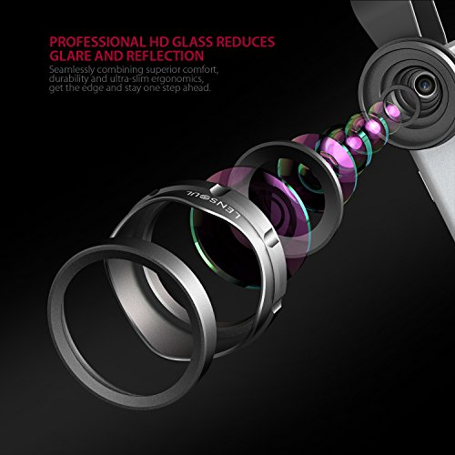 iPhone Lens LENSOUL Wide Angle Lens, Professional HD Cell Phone Camera Lens Kit for iPhone, Samsung Android Smartphones, 110 Degree View