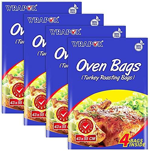 WRAPOK - Bolsas de cocina para horno de pavo, para carne de pollo, jamón, pescado, mariscos, verduras, 16 bolsas