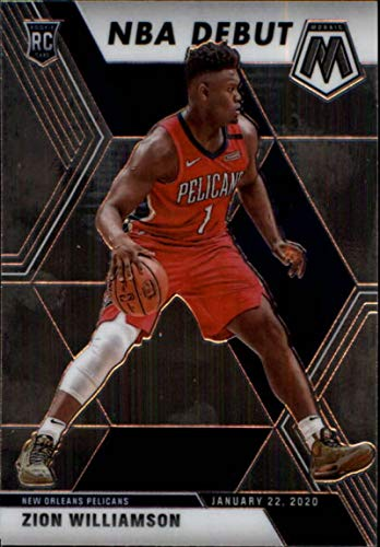2019-20 Panini Mosaic #269 Zion Williamson New Orleans Pelicans RC Rookie NBA Basketball Trading Card