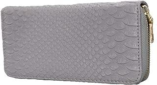 Autumnwell Women RFID Blocking Wallet PU Leather Zip Around Phone Clutch Large Travel Purse Wristlet