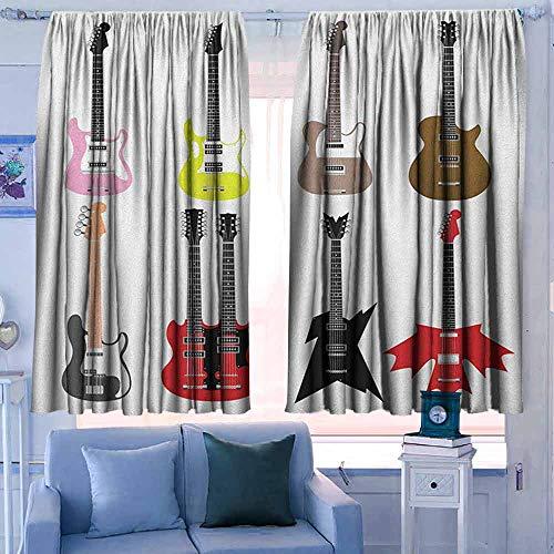 Lovii Cortina Opaca Moderna recámara, Guitarra, colección gráfica d