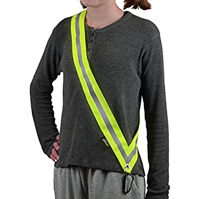 MOONSASH Mini – Patented Reflective Night Safety Gear for Kids & X-Small Adults > Get Out at Be Seen at Night > Reversible, Comfortable, Practical & Stylish Safety Band
