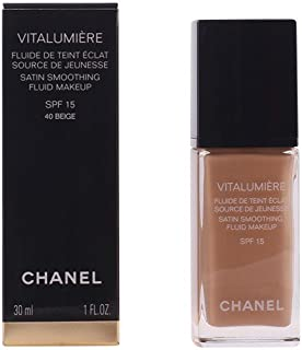 Chanel Vitalumiere Satin Smoothing Fluid SPF 15 Makeup, No. 40 Beige, 30 Milliliter