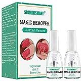 Dissolvant Vernis Semi Permanent, Dissolvant Acetone, Nail Polish Remover, Dissolvant Magique, Nettoyant pour les ongles en gel/Nail Cleaner, élimine le Vernis Gel Soak-Off en 3 à 5 Minutes (2pc)