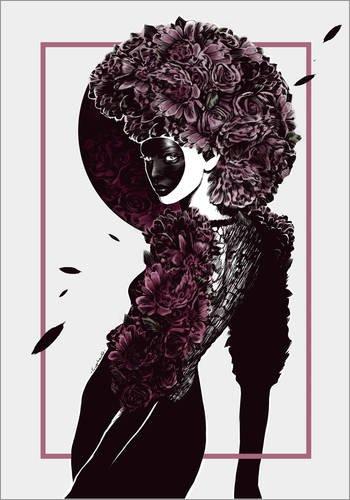Poster 30 x 40 cm: Moretta oder Muta Mask von Paola Morpheus - hochwertiger Kunstdruck, neues Kunstposter