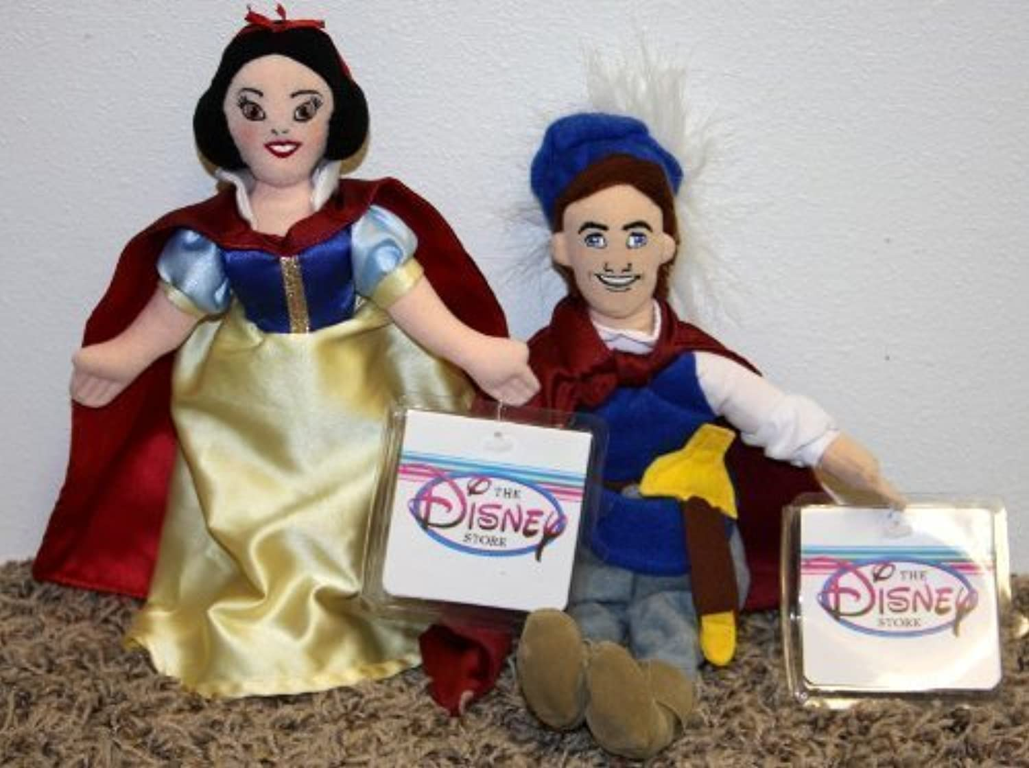 Retirot Disney Princess and Snow Weiß and Snow Weiß Prince Set of Plush Bean Bag Dolls Mint with Tags by Disney