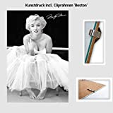 Kunstdruck Poster - Marilyn Monroe Signature Unterschrift
