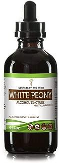 White Peony Alcohol Liquid Extract, Organic White Peony (Paeonia Lactiflora) Dried Root Tincture Supplement (4 FL OZ)