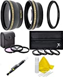 40.5/52mm Lens Filter Kit (Wide Angle, Telephoto, Filters, Macro Filter Kit, Lens Adapter) For Sony Alpha A5000 A5100 A6000 A6300 A6500