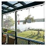 XJJUN Outdoor-Rollos, Transparente wasserdichte Seitenwand Kunststoff-Trennwand Winddicht, Für Büro-Service-Theke (Color : Klar, Size : 0.75x2.5m)