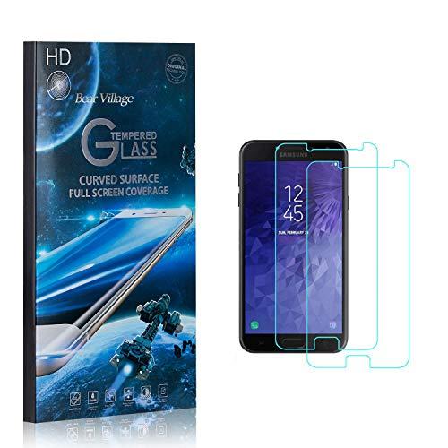 Bear Village® Displayschutzfolie für Galaxy J7 DUO, 9H Hart Panzerglasfolie, Anti Kratzen, 99% Transparente Schutzfilm aus Gehärtetem Glas für Samsung Galaxy J7 DUO, 2 Stück
