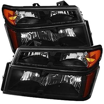 Carpartsinnovate 04-12 Chevy Colorado GMC Canyon Black Headlights Headlamps+Corner Signal Lights
