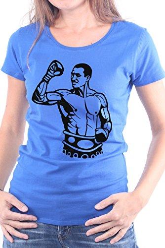 Mister Merchandise Ladies Frauen Damen T-Shirt Vitali Klitschko, Größe: XS, Farbe: Royal