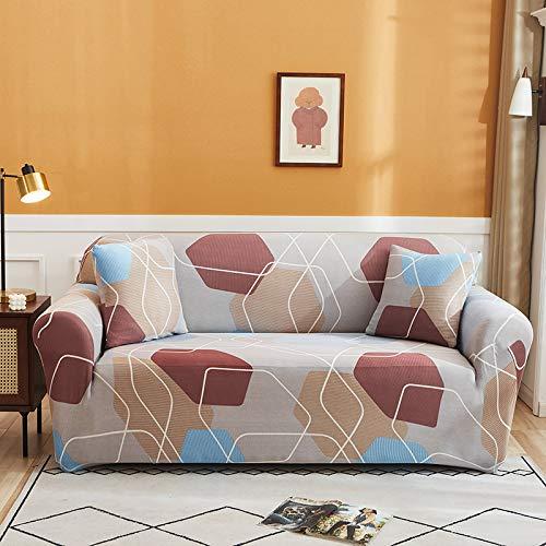 NOBCE Juego de Fundas elásticas para sofá, Fundas universales de algodón para sofá para Sala de Estar, Mascotas, sillón, sofá de Esquina, Funda para sofá de Esquina 235-300CM