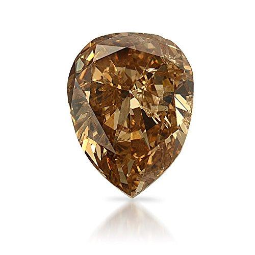 0.30 CT Pear I1 BROWNISH PINK Champagne Fancy Loose Diamond! IGI (0.30 Ct Pear Diamond)
