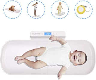 Pet Scale, Baby Scale, Multi-Function Digital Scale Measure Toddler/Adult/Puppy/Cat/Dog Weight(Max:220lb) and Height(Max:70cm) Accurately, Precision at ± 10g, KG/LB/OZ, Blue Backlight