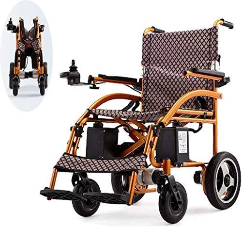WXDP Eléctrica portátil autopropulsada, silla de viaje ligera para personas mayores con discapacidad de ayuda para coche duradero, automático inteligente h cómodo y seguro viaje