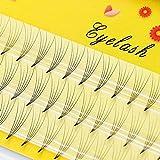 False Eyelashes 5D Natural Individual Faux Mink Eyelashes Russian Volume Grafting Eyelash Extension Makeup False Eye Lashes 0.07C - (Curl: C; Thickness: 0.07mm; Length: 9MM)