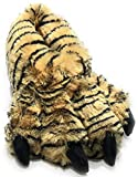 Wild Ones Furry Animal Claw Slippers for Toddlers, Kids and Adults (Medium Mens 6 to 8 ½, Bengal Tiger)